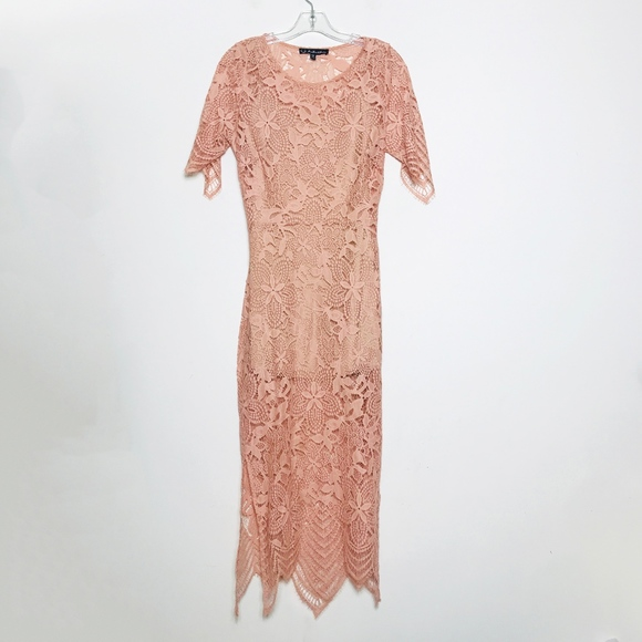 For Love And Lemons Dresses & Skirts - For Love And Lemons Dusty Pink Lace Dress